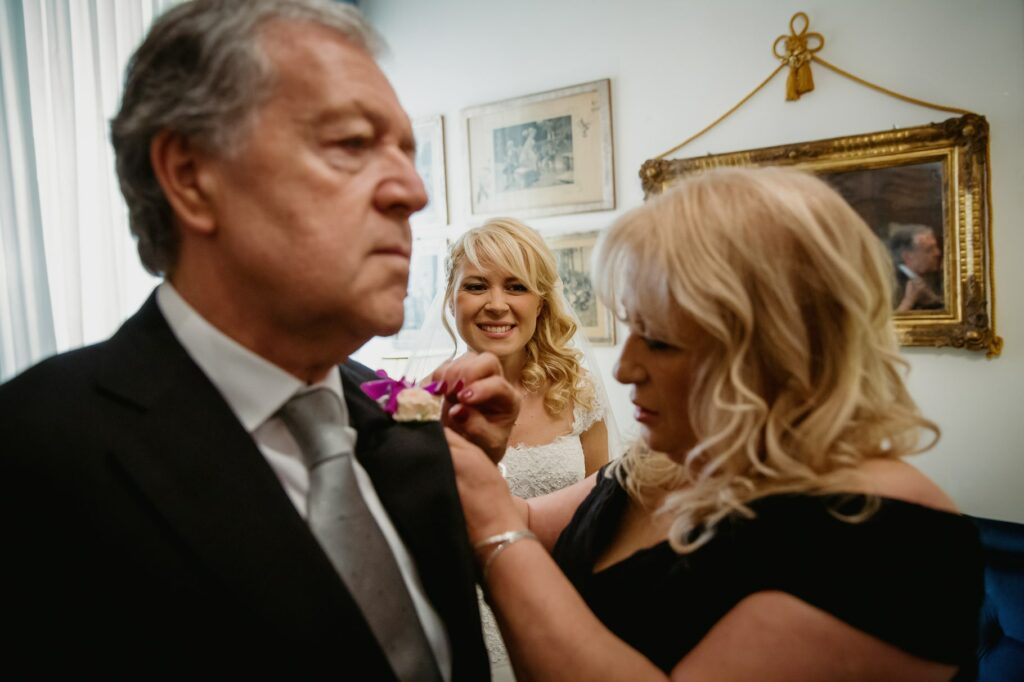 father and mother of the bride