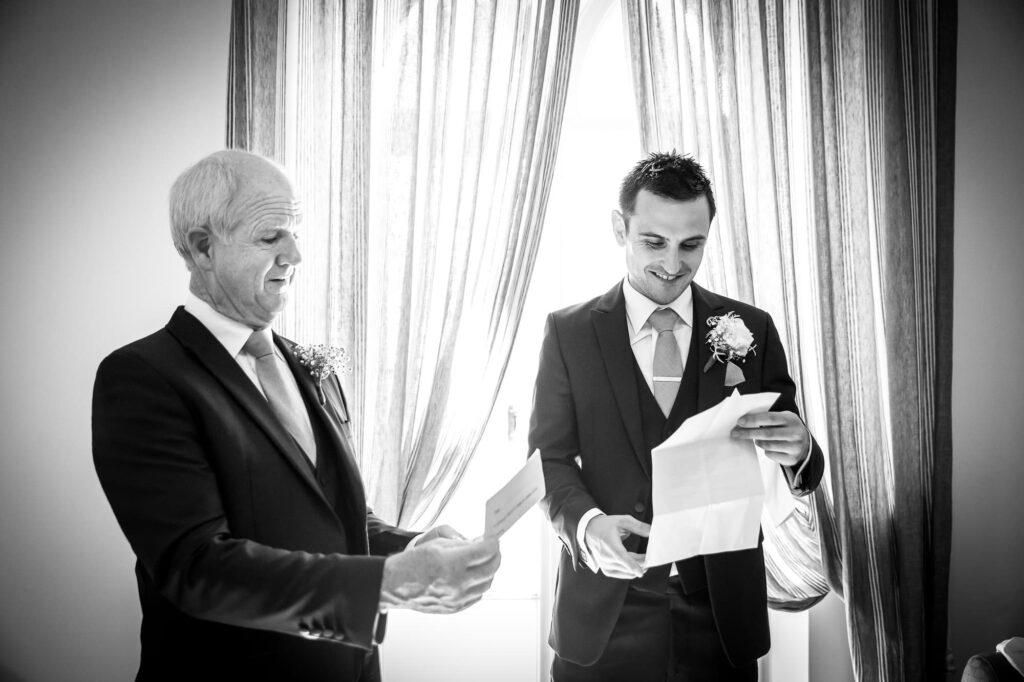 groom and bride father prepare their ravello wedding speeches