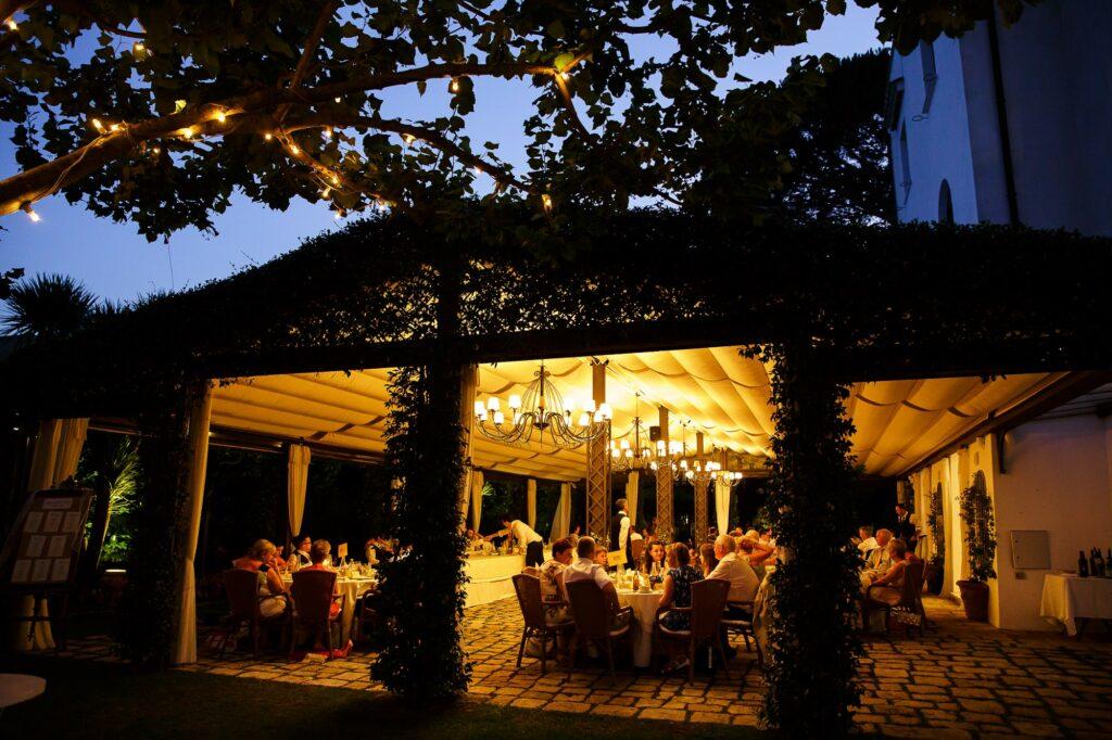 wedding dinner at villa eva in ravello