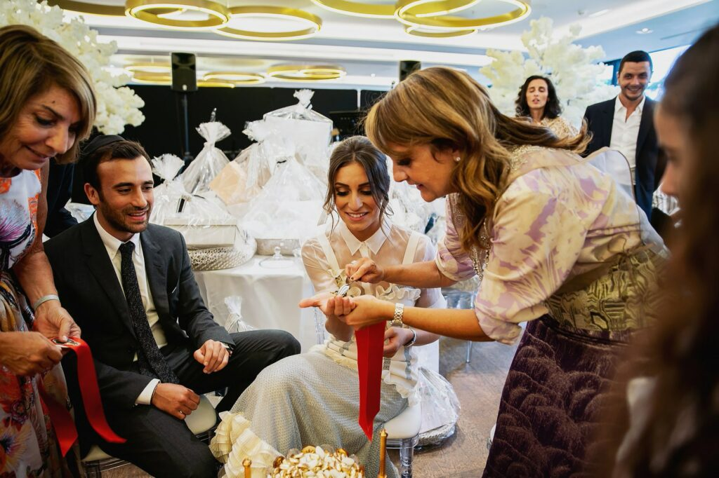 hennah ceremony during the wedding in paris with bride and groom