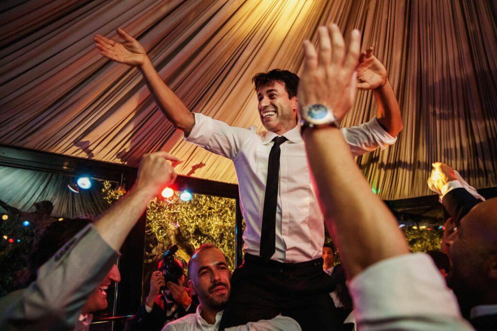 kledi kadiu engaging a folk dance at wedding reception